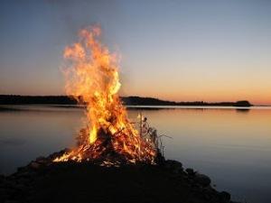 Traditional mid-summer bonfire